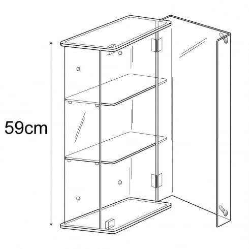 59cm display case: lockable-wall (acrylic show case)