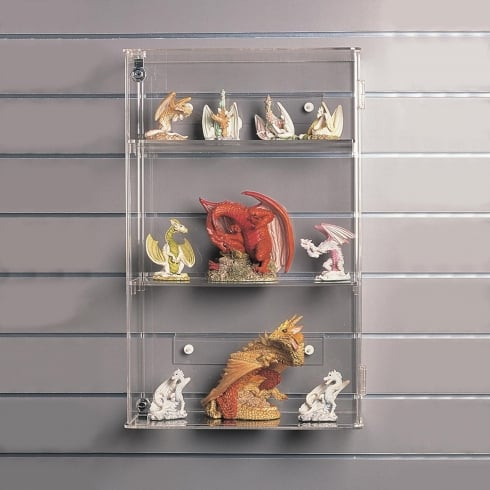 59cm display case: lockable-wall