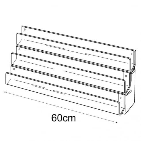 60cm card rack: 3 tier-wall (tiered card rack)