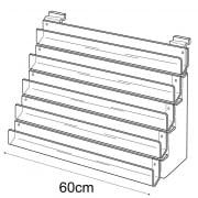 60cm card rack: 5 tier-slatwall (card display for slatwall)