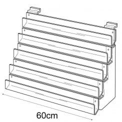 60cm card rack: 5 tier-slatwall (card display for slatwall)
