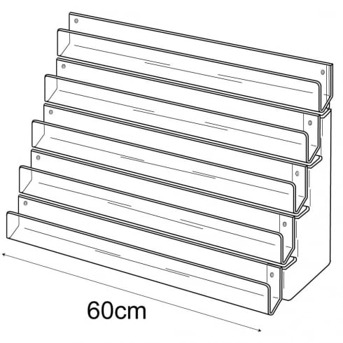 60cm card rack: 5 tier-wall (tiered card rack)