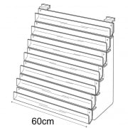 60cm card rack: 7 tier-slatwall (card display for slatwall)