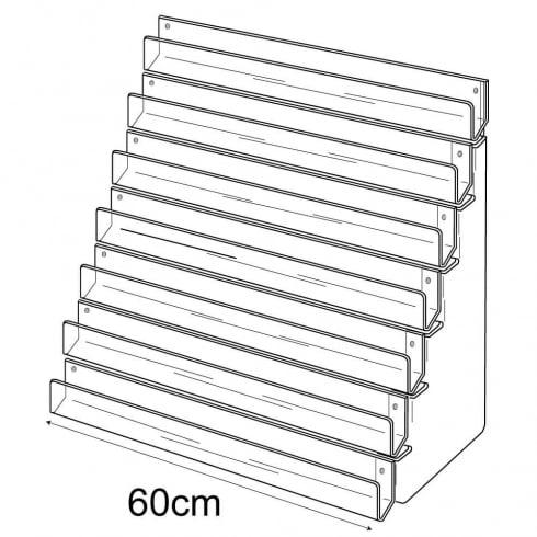 60cm card rack: 7 tier-wall (tiered card rack)