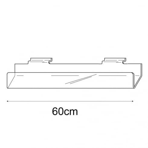60cm card rack-slatwall (acrylic card rack for slatwall)