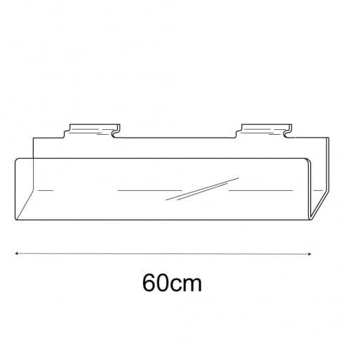 60cm deep card rack-slatwall (acrylic card rack for slatwall)