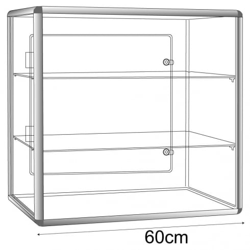 60cm display case: lockable-counter (acrylic display cabinet)