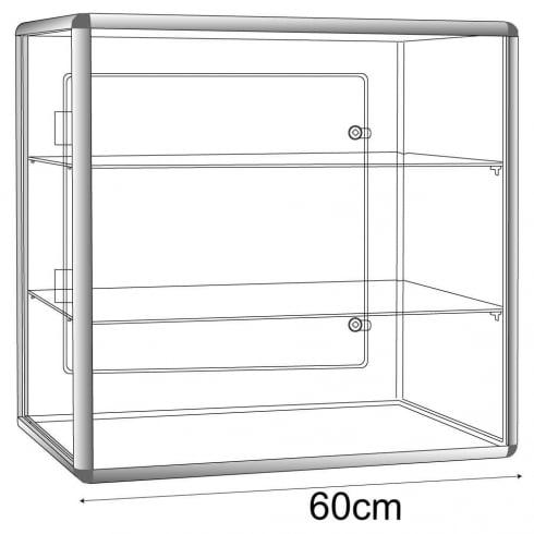 60cm display case: lockable-counter (acrylic display cabinet)