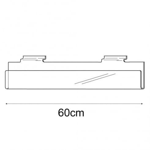 60cm exhibition card rack-slatwall (acrylic card rack for slatwall)