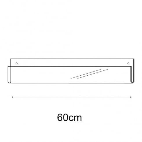 60cm exhibition card rack-wall (acrylic card display)