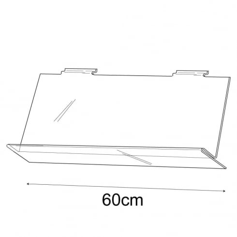 60cm shirt display-slatwall (slatwall acrylic shelf)