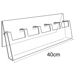 6cm economy bookmark display (containers & trays: retail display)