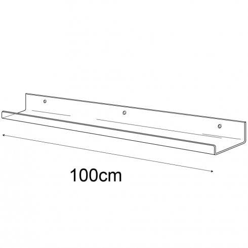 6cmx100cm lipped shelf-wall (Perspex shelf)