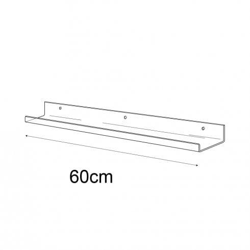 6cmx60cm lipped shelf-wall (Perspex shelf)