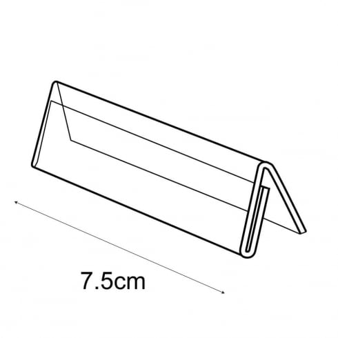 7.5cm showcard tent: pack of 10 (sign holder & pricing system)