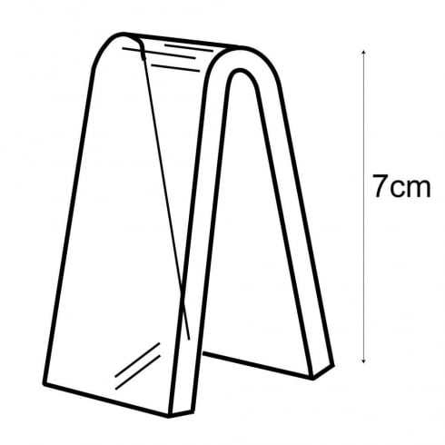 7cm heel rest (acrylic shoe display)