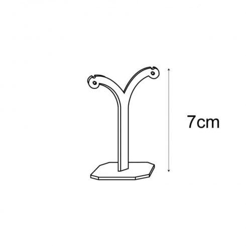 7cm tree stand: clip & hook earrings