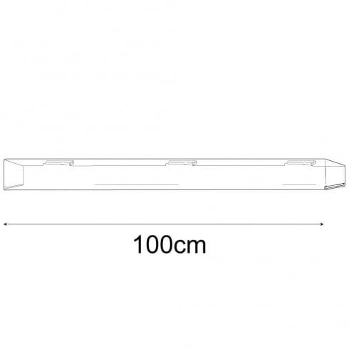 7cmx100cm closed end media shelf-slatwall (slatwall acrylic shelf)