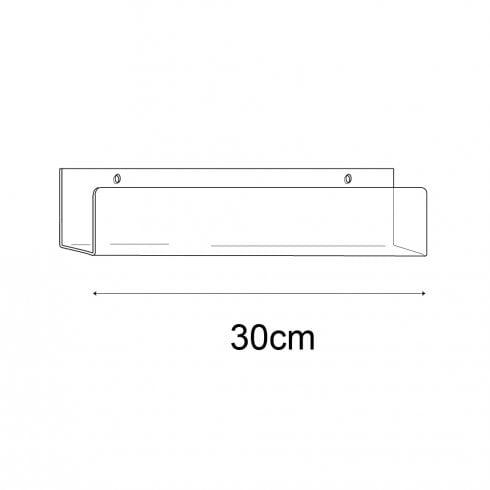 7cmx30cm lipped shelf-wall (perspex shelving)
