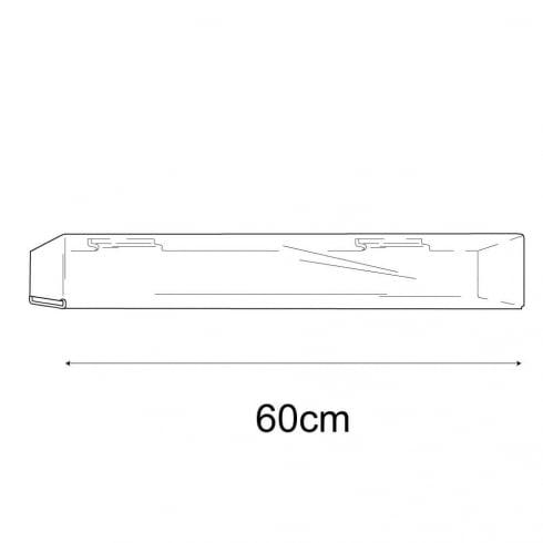 7cmx60cm closed end media shelf-slatwall (slatwall acrylic shelf)