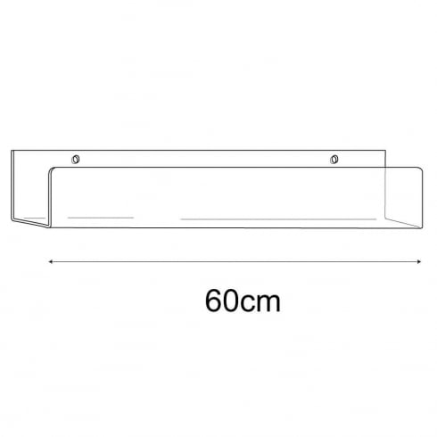 7cmx60cm lipped shelf-wall (acrylic shelving)