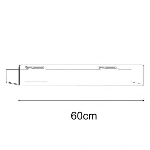 7cmx60cm multi media shelf-slatwall (slatwall acrylic shelf)