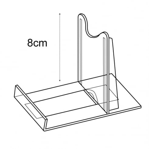8cm adjustable support: pack of 10 (retail display & shop equipment)