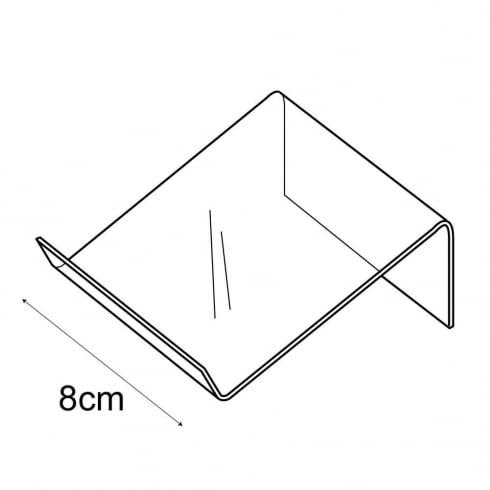 8cm shallow support (general purpose retail equipment)