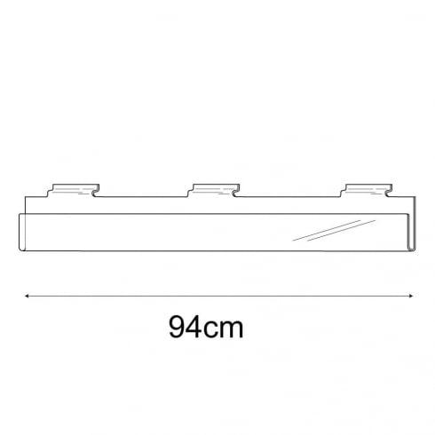 94cm exhibition card rack-slatwall (acrylic card rack for slatwall)