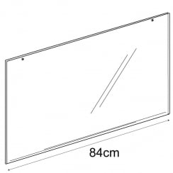 A1 landscape sign holder-hanging (PVC slatwall sign holder)