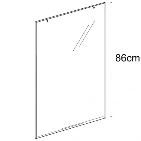 A1 portrait sign holder-hanging (PVC sign holder)