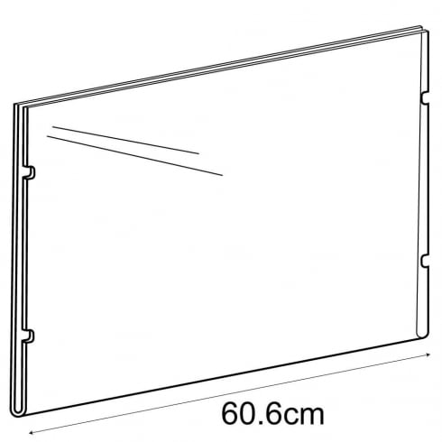 A2 landscape sign holder-cable fixing (hanging sign holder: cable system)