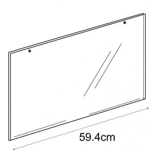 A2 landscape sign holder-hanging (PVC sign holder)