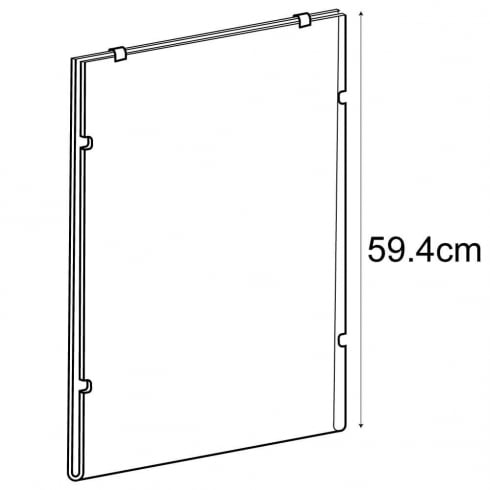 A2 portrait sign holder-cable fixing (hanging sign holder: cable system)