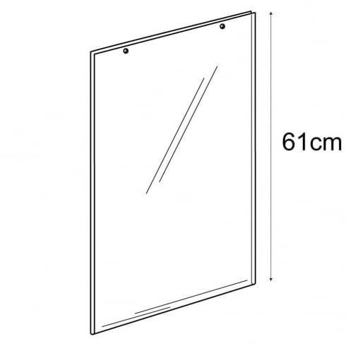A2 portrait sign holder-hanging (PVC sign holder)