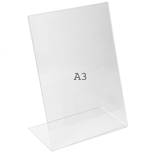A3 angle portrait sign holder-counter (counter sign holder)