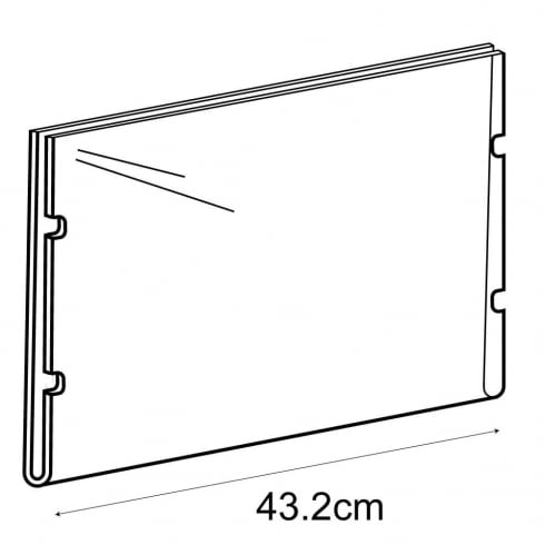 A3 landscape sign holder-cable fixing (hanging sign holder: cable system)