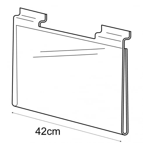 A3 landscape sign holder-slatwall (acrylic slatwall sign holder)