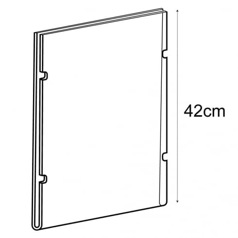 A3 portrait sign holder-cable fixing (hanging sign holder: cable system)