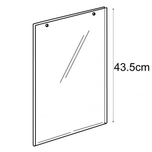 A3 portrait sign holder-hanging (PVC sign holder)