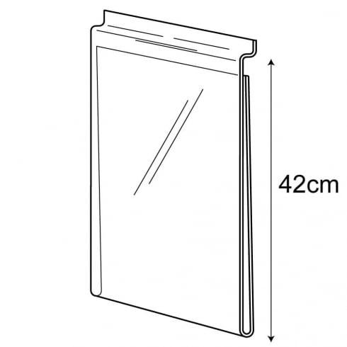 A3 portrait sign holder-slatwall (acrylic slatwall sign holder)