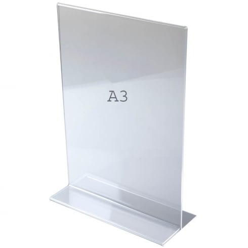 A3 vertical portrait sign holder-counter (acrylic sign holders)