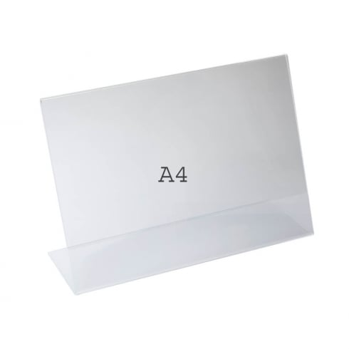 A4 angle landscape sign holder-counter (acrylic sign holder)