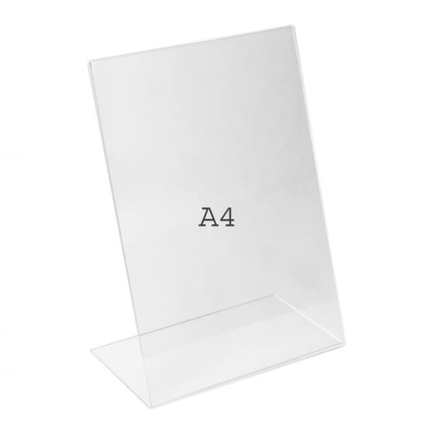 A4 angle portrait sign holder-counter (Perspex ?« sign holder)