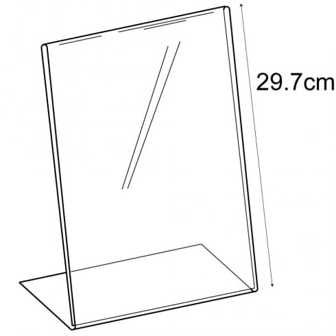 A4 budget angle sign holder-counter (pvc sign holder)