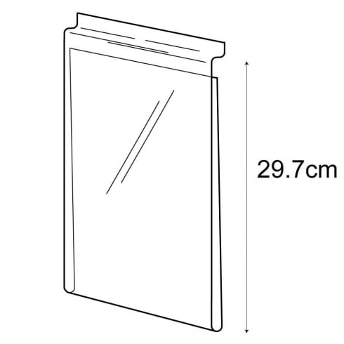 A4 budget sign holder-slatwall (PVC slatwall sign holder)
