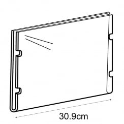 A4 landscape sign holder-cable fixing (hanging sign holder: cable system)