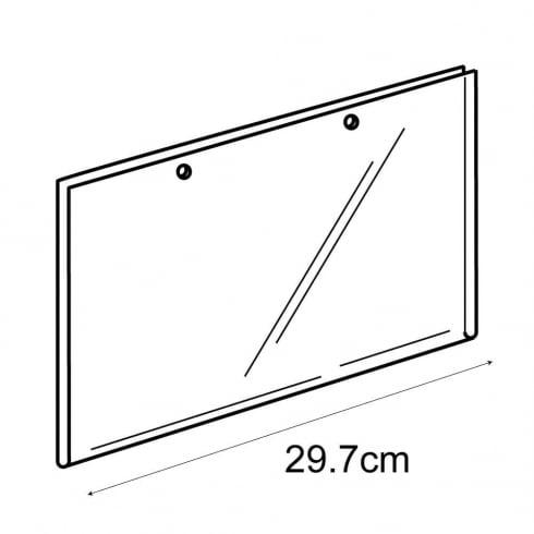 A4 landscape sign holder-hanging (PVC sign holder)