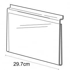 A4 landscape sign holder-slatwall (acrylic slatwall sign holder)