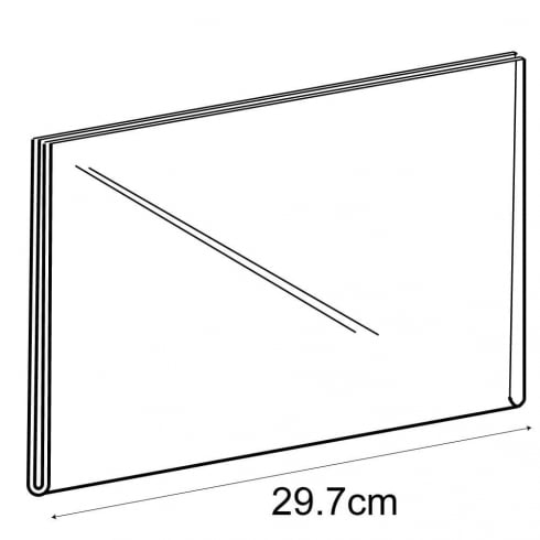 A4 landscape sign holder-wall (acrylic sign holder)